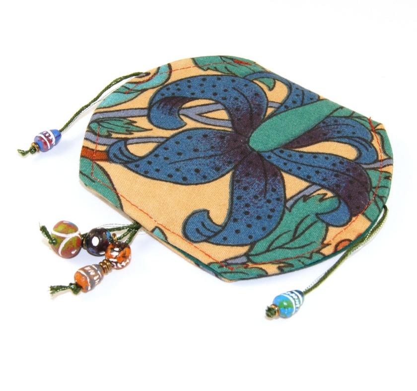 Boho Festival Pouch for EarBuds, Coins, Jewellery, Prayer Beads