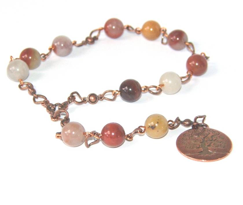 Tree of Life Meditation Beads, Jasper Gemstone Beads