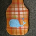 "Hot Water Bottle Cover ""  Blue Whale with Lovebirds"""