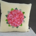 Hydrangea Cushion in Shades of Pink