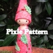 MISTLETOE PIXIE DOLL PATTERN with one wooden doll base