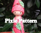 Flower Pixie Doll Pattern and Wooden Doll Base - A Waldorf inspired craft pattern including step by step instructions, and photos.