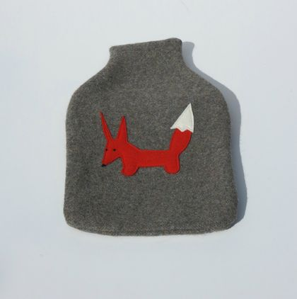 "Hotwater Bottle Cover ""Mr Fox"""