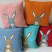 "Cushion ""Little Rabbit"" You choose the colour rabbit and the colour cushion"