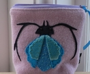 "Cosmetic Purse ""Beetle Bug on Lavender"""