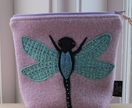 "Cosmetic Purse ""Dragonfly on Lavender"""