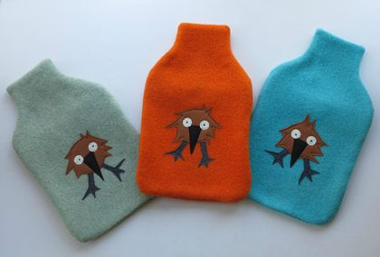 "Hotwater Bottle Cover ""Little Kiwi"" x 1"