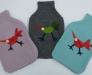 "Hotwater Bottle Cover ""Bird of Paradise"""