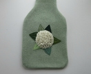 "Hotwater Bottle Cover "" Hydrangea on Green"""