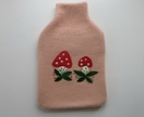 "Hotwater Bottle Cover ""Mushrooms"""