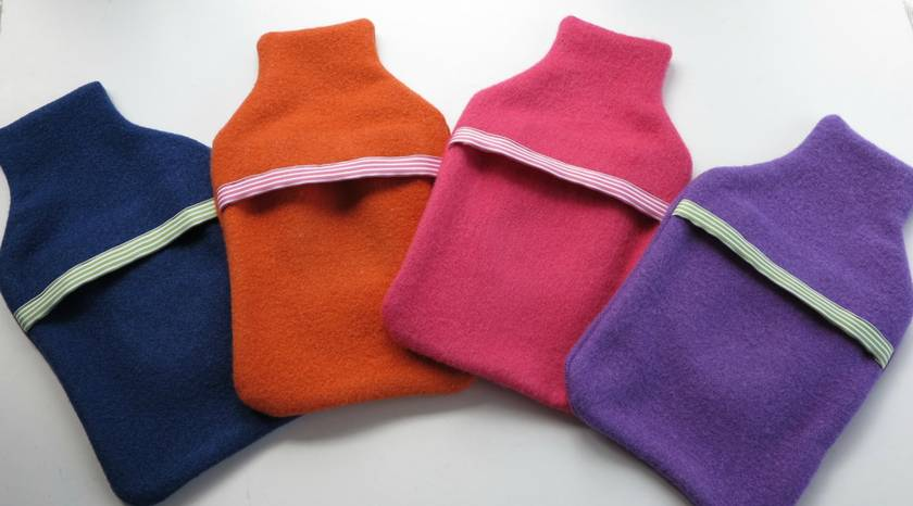 "Hotwater Bottle Cover "" Hydrangea"" x 1 (You choose the hottie and flower colours)"