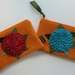 "Purse  "" Teal Hydrangea on Orange"""
