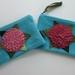 "Purse  ""  Raspberry  Hydrangea on Turquoise"""