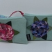 "Purse  "" Hydrangea in either shades of pink or shades of purple on spearmint green"""