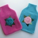 """Hotwater Bottle Cover """" Hydrangea"""" x 1 (You choose the hottie and flower colours)"""