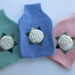 """Hotwater Bottle Cover """" Creamy/White Hydrangea"""" x 1 (You choose the Hottie Cover Colur)"""