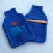 """Hotwater Bottle Cover """"Whale and Friend"""" on Royal Blue"""
