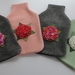 "Hotwater Bottle Cover "" Hydrangea in different colours"""
