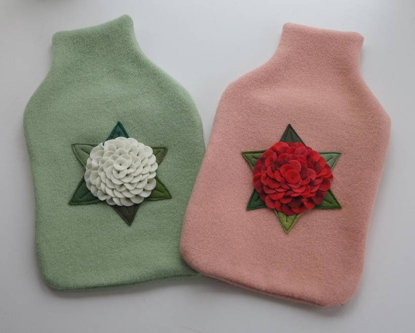 """Hotwater Bottle Cover """" Hydrangea in different colours"""""""