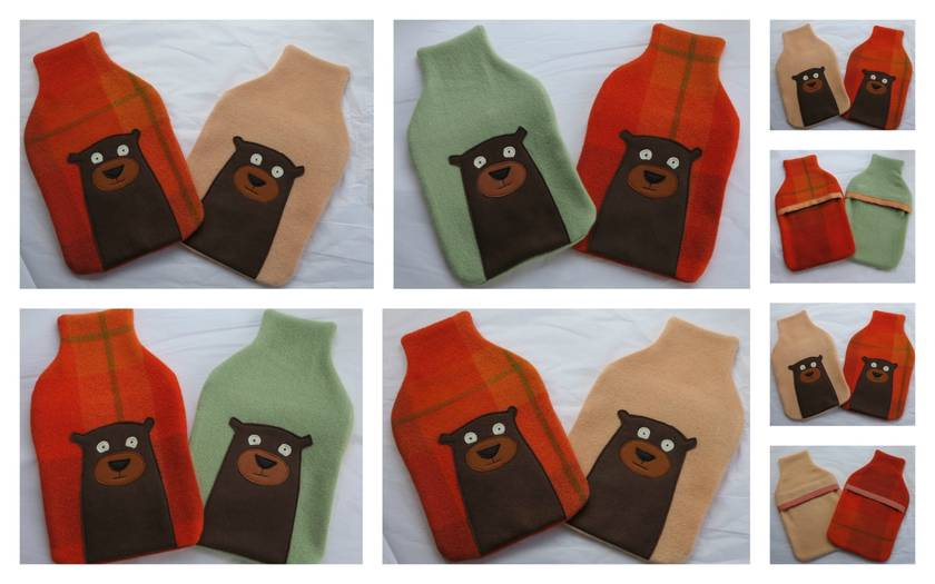 "Hotwater Bottle Cover ""Mr Bear (Yogi) """