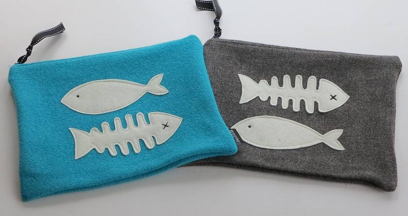 "Ipad Case or Large Essentials case "" For the Love of Fish"""