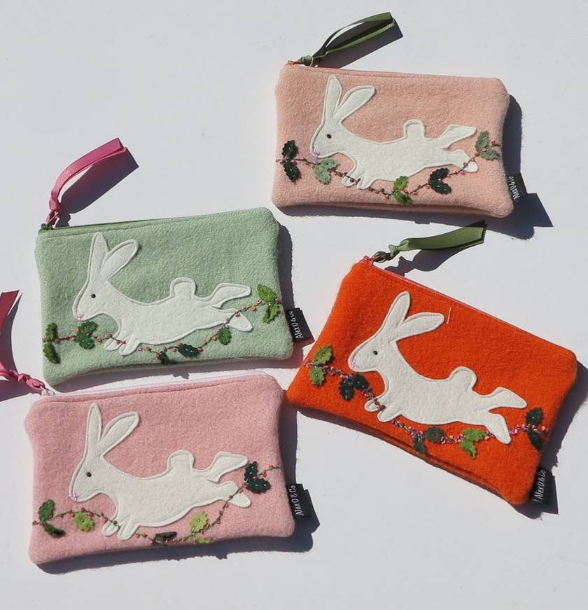 Jumping Rabbit Purse or Pencil Case