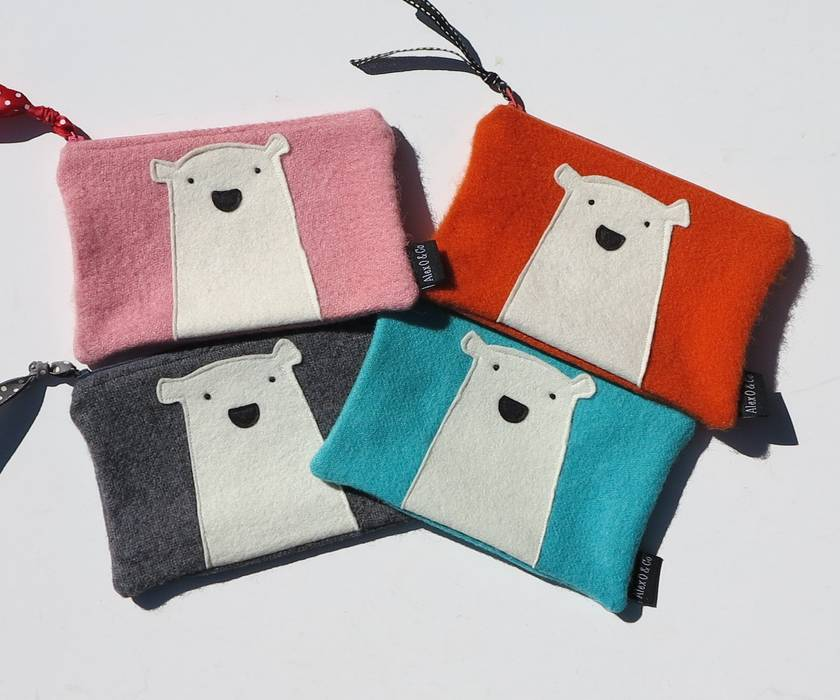 Mr Polar Bear Purse or Pencil Case