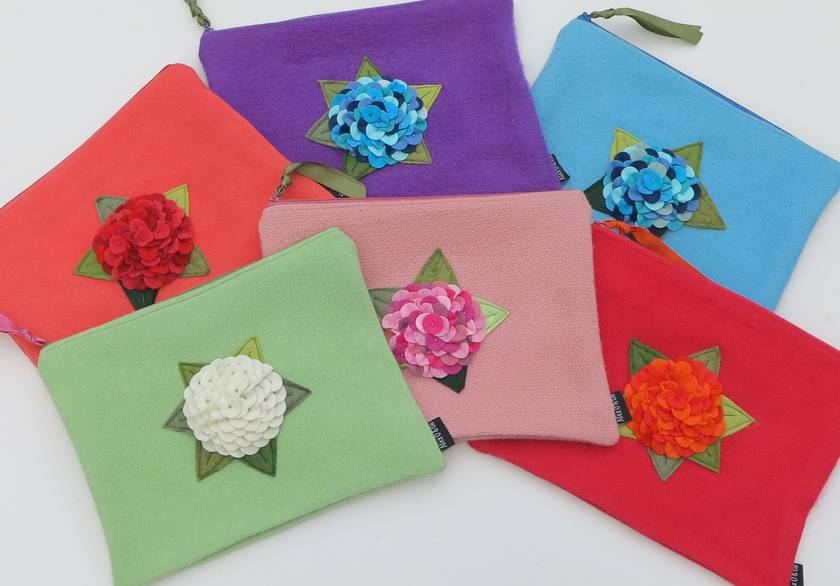 "Ipad Case or Large Essentials case ""You choose the flower and the case colours."
