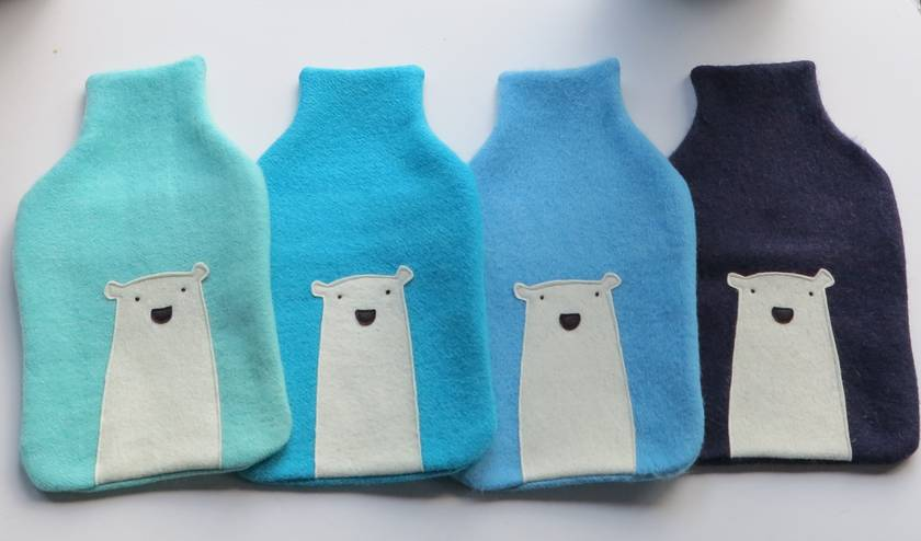 "Hotwater Bottle Cover ""Mr Polar Bear"""