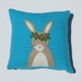 "Cushion ""Little Rabbits""  You choose the cushion colour"