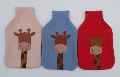 "Hotwater Bottle Cover "" Mr Giraffe "" (Melman)"