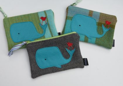 """Whale and Friend"" Purse or Pencil Case"