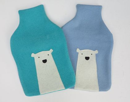 "Hotwater Bottle Cover ""Mr Polar Bear"""