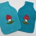 "Hotwater Bottle Cover ""Mushroom and Flowers"""