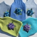 "Hotwater Bottle Cover "" Hydrangea"" You choose the cover colour and the shades of Hydrangea"