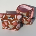 """Purse """"FLOWERS & FANTAILS"""" cosmetic or jewellery purse"""