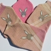 """Hotwater Bottle Cover """"Little Rabbit"""" on Pink"""