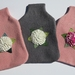 Hotwater Bottle Cover Hydrangea in different shades. You choose the colour