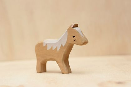 Wooden foal toy