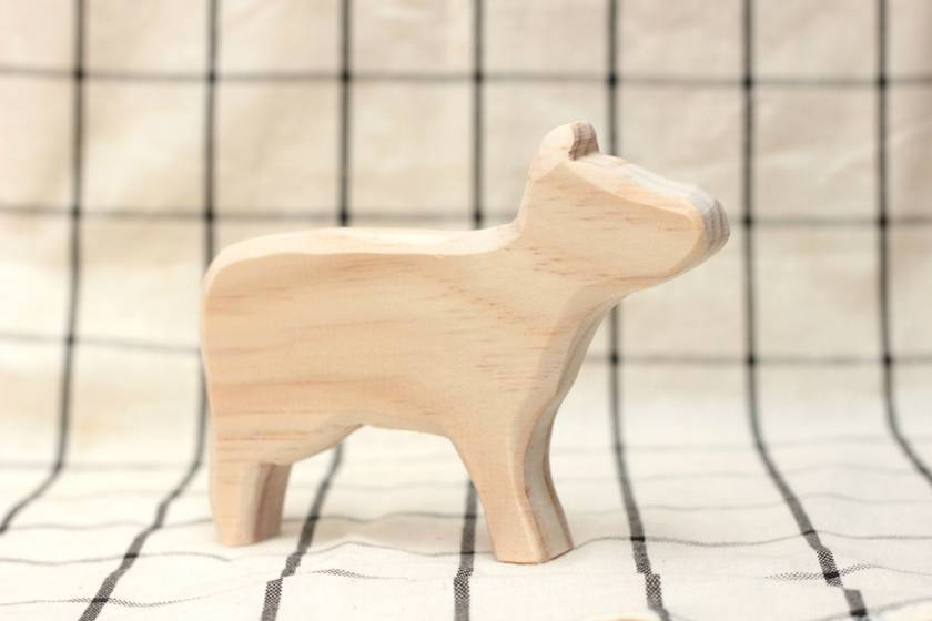 Paint your own wooden cow