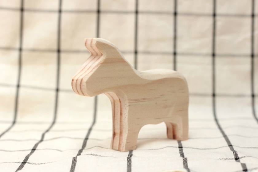 Paint your own wooden donkey