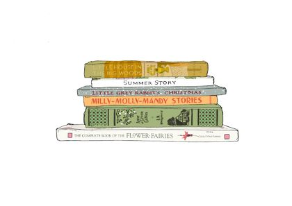 'My favourite books' illustration