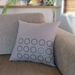 SALE - Circles Design Cushion Cover in Taupe