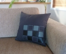 SALE - Square Design Cushion Cover in Ebony