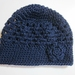 Gorgeous Navy Blue Pure Wool Beanie - Adult Size
