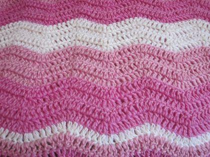 Beautiful Pink Pure Wool Baby Blanket