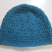 Pure Wool Slouch Beanie - Turquoise