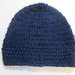 Pure Wool Slouch Beanie - Navy Blue