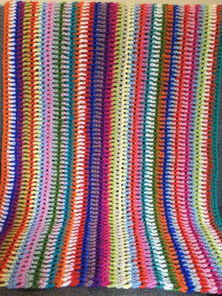 Rainbow Striped Pure Wool Baby Blanket
