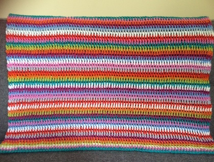 Pure Wool Striped Baby Blanket